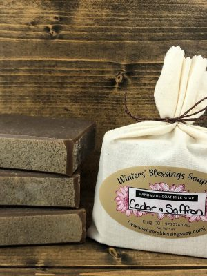 Cedar and Saffron Goat Milk Soap