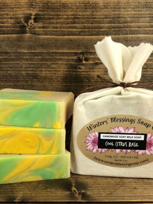 Cool Citrus Basil Goat Milk Soap