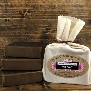 Packaged and not packaged Date Night Goat Milk Soap
