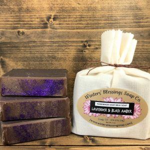 Lavender and Black Amber Goat Milk Soap