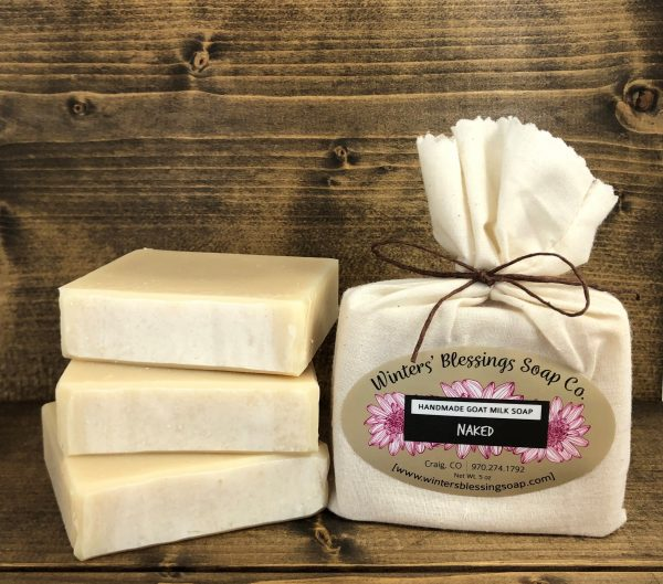 Packaged and not packaged Naked Goat Milk Soap