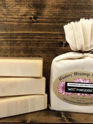 Sweet Pomegranate Goat Milk Soap