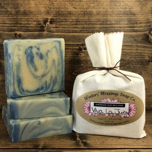 Packaged and not packaged Viva La Juicy Goat Milk Soap