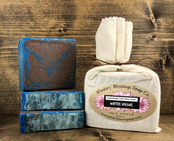 Packaged and not packaged Winter Dreams Goat Milk Soap